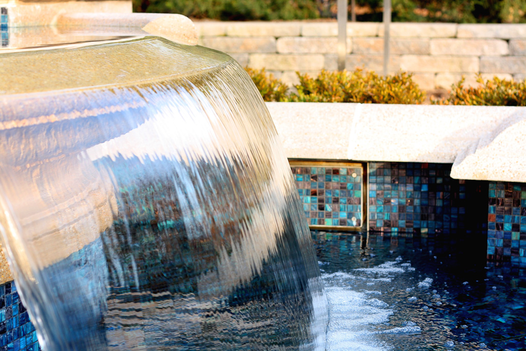 Fountain at the Baha'i House of Worship Chicago