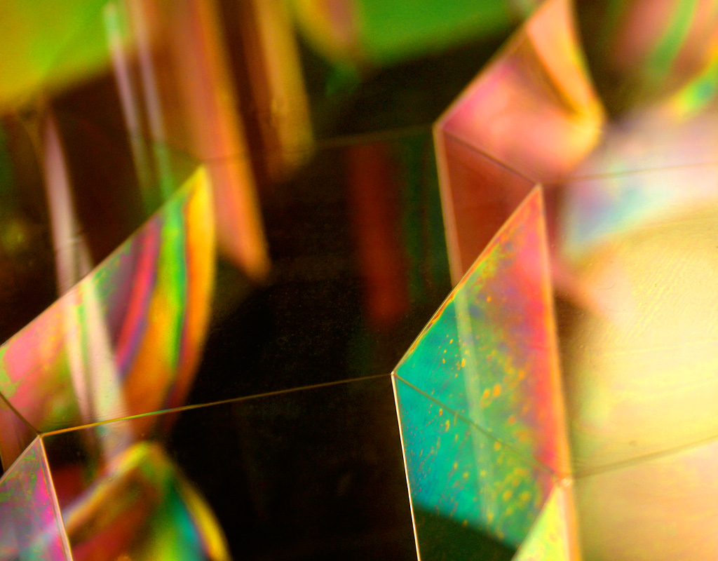 Iridescent art by James Ossi at MIT