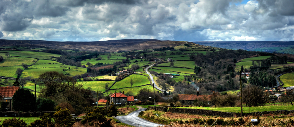 Panoramic view or Yorkshire England