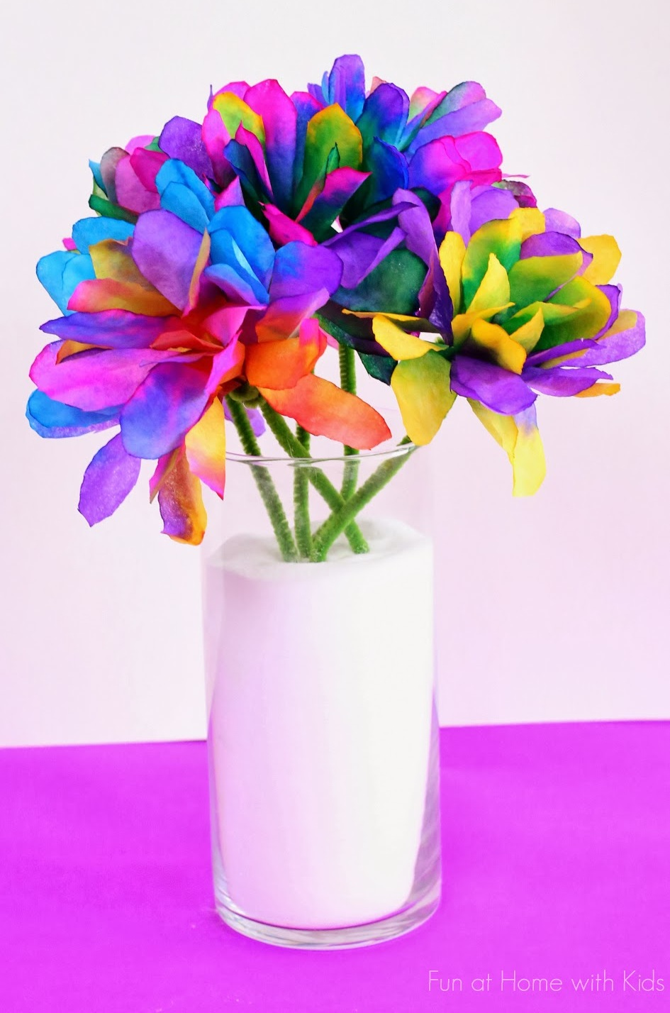 Make colorful flowers for Baha'i Ridvan